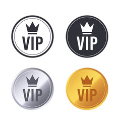 vip icons exclusive club members pictograph vector image