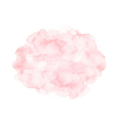 Watercolor pink paint texture isolated on white vector