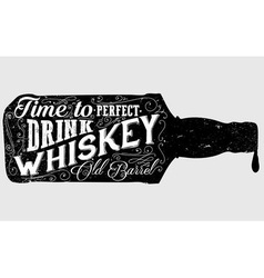 Whiskey Sign vector