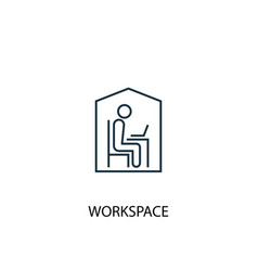 workspace concept line icon simple element vector image
