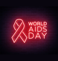 World aids day december 1 red tape for hiv vector