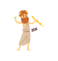 zeus supreme olympian greek god ancient greece vector image