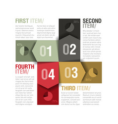 Four parts design template vector image vector image