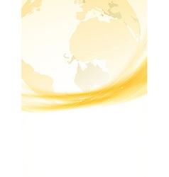 Golden swoosh border global background vector