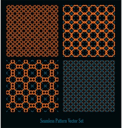 orange blue forms design vector image vector image