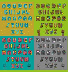 vintage artistic alphabets vector image vector image