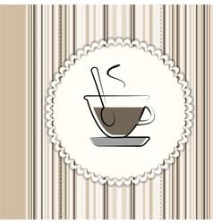 Coffee menu card vector image vector image