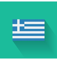 Flat flag of Greece vector image