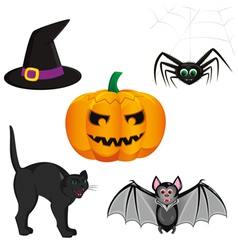 set for registration cards for halloween consistin vector image vector image