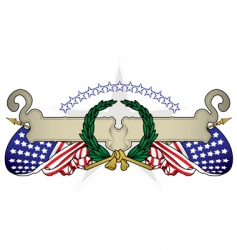 united states banner vector image