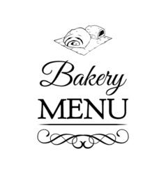 Bakery Shop Logo Template Design Element Vintage vector image