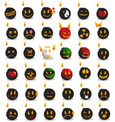 bomb emotions vector image