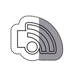 figure emblem wifi icon vector image