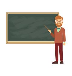 teacher professor standing in front of blank vector image vector image