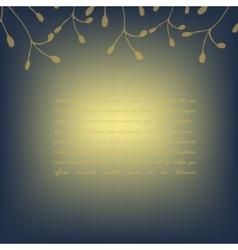Template invitation card deep blue golden vector image