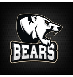 White Bear Sports team mascot vector image vector image