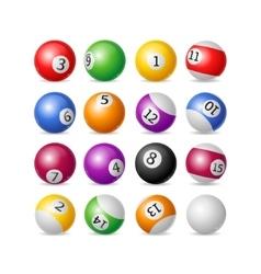 Colorful Billiard Balls Set vector image vector image