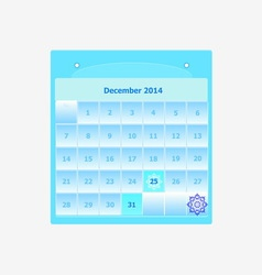 Design schedule monthly december 2014 calendar vector image