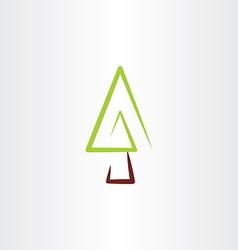 fir tree christmas icon design vector image vector image
