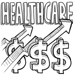 Healthcare costs increase vector image vector image