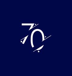 70 years anniversary celebration elegant number vector