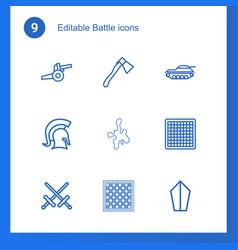 9 battle icons vector