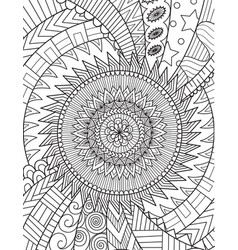 Abstract art for background adult coloring book vector