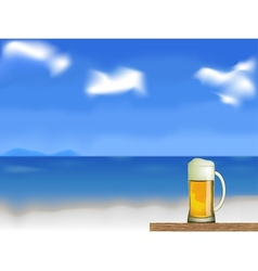 beer on the beach vector image