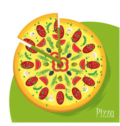 big pizza poster vector image