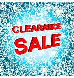 Big winter sale poster with CLEARANCE SALE text vector