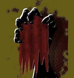 Black Hand vector image
