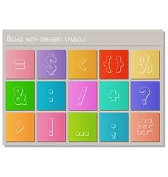 board with different symbols vector image