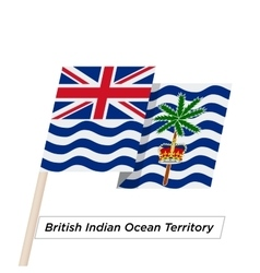 British Indian Ocean Territory Ribbon Waving Flag vector image
