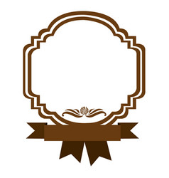 brown border heraldic decorative with ribbon vector image