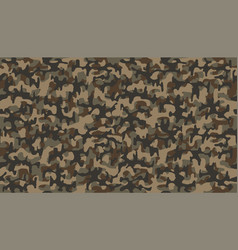 brown camouflage pattern seamless template vector image