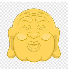 Budha head icon cartoon style vector