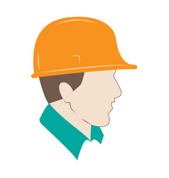 builder in protective helmet male builder flat vector image