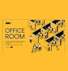 business company office isometric website vector image