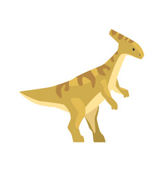 Cartoon parazavrolofus character jurassic period vector