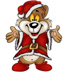 Christmas happy bear vector image