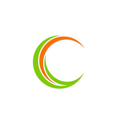 Circle letter c company logo vector