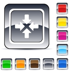 Click here square button vector