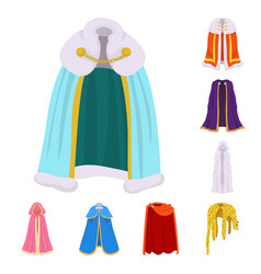 Cloak and clothes icon set vector