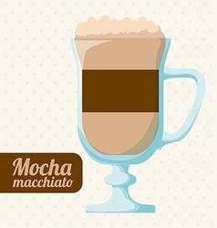 Coffee design over white background vector