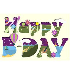 Colorful happy birthday vector