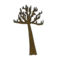 comic cartoon winter tree vector image