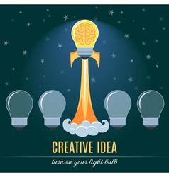 Creative Idea Flat Concept vector image