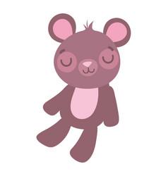 cute little teddy bear toy cartoon vector image