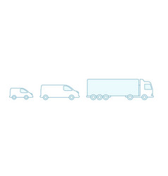 delivery truck car size icons cargo vector image