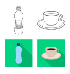 design of drink and bar symbol collection vector image